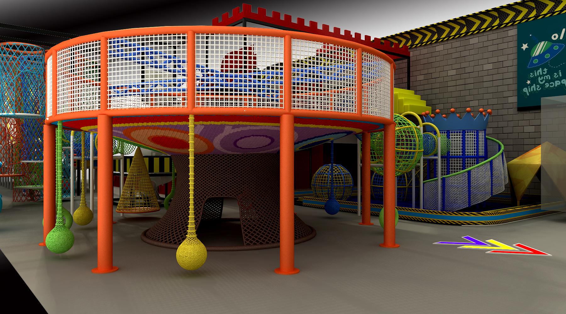 Canada indoor big slide, devil slide, rainbow slide~