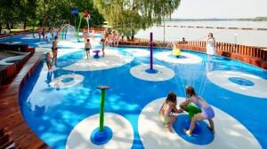 Aqua park for kids theme park spray park splash