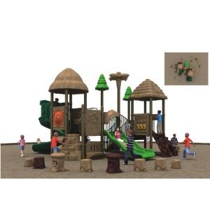 New designs of plastic and wooden slides in playground equipment slides or park slides