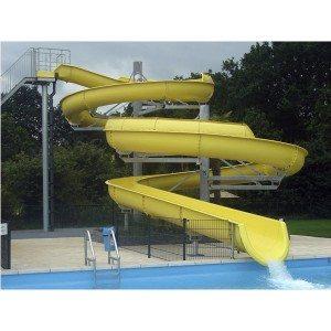 Well-designed Aqua Park Equipment Fiberglass Water Slide to Guinea Factory