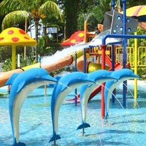 Kids outdoor water park toys dolphin aqua play for aqua park