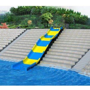 Fiberglass Outdoor Family Water Park Equipment Water Slide