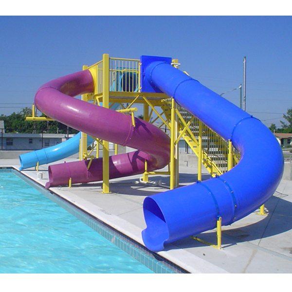 Best-Selling Fiberglass Children Outdoor Pool Amusement Equipment Water Slide for Pakistan Factory