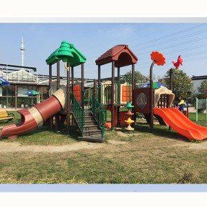 Manufactur standard Children Amusement Equipment Outdoor Playground Plastic Slide Wholesale to St. Petersburg