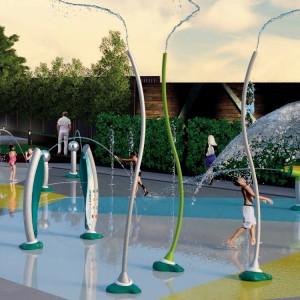 Dry Deck Fountain Nozzle Floor Spray Aqua Splash Pad Park Outdoor Water Spray Park