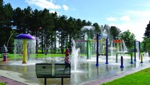 kids mini water splash park playground